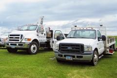 Trucks arriving