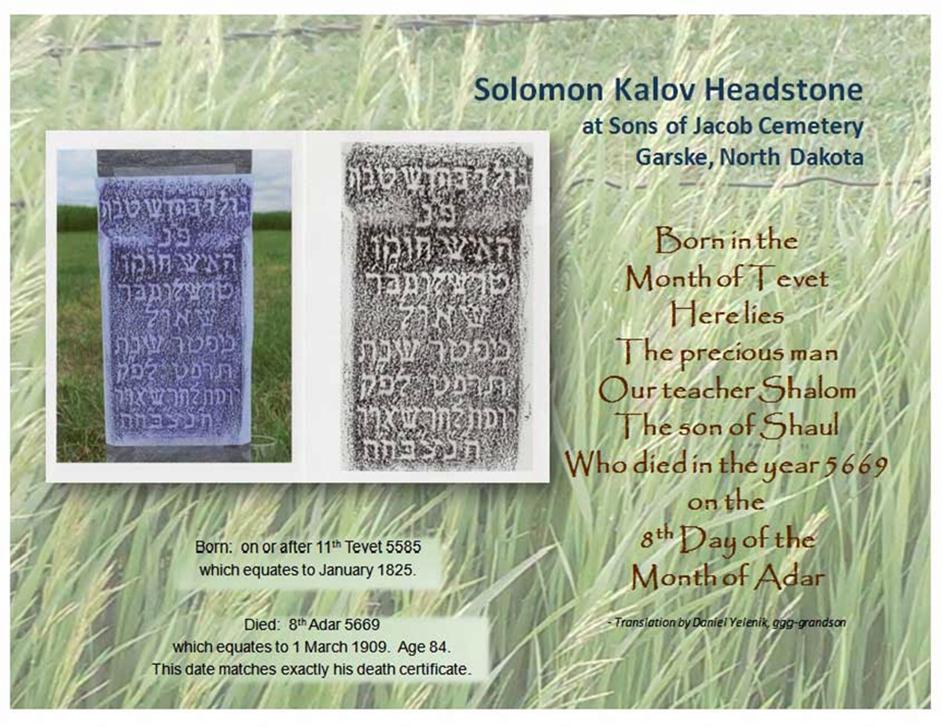 Solomon Kalov Headstone