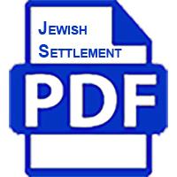 Jewish Settlement by Dave Glickson