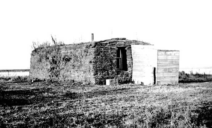 North Dakota Homesteader's Sod House